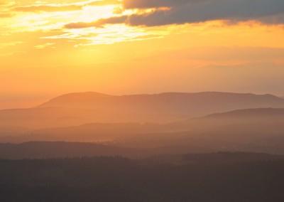 Ausblick Sonnenaufgang Lusen Bayerischer Wald