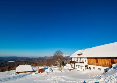 Winter auf dem Draxlerhof in Waldhäuser